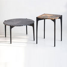 Geometric Marble Occasional Tables