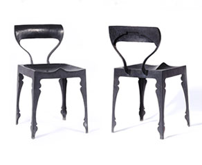 New release! Louis Zinc Stool with hand beaten steel backrest.