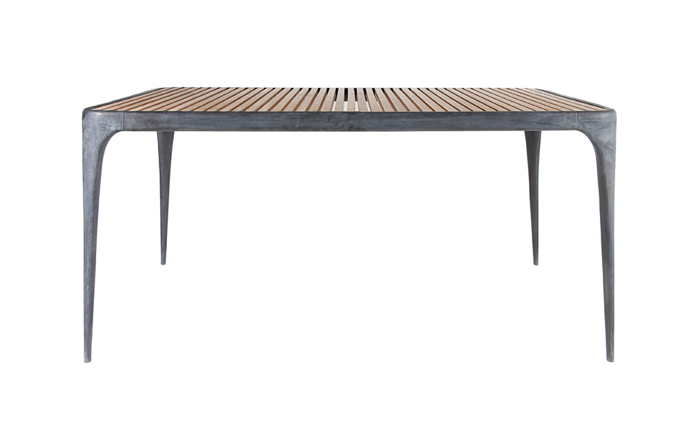 CAST Rectangular Dining Table Teak Top