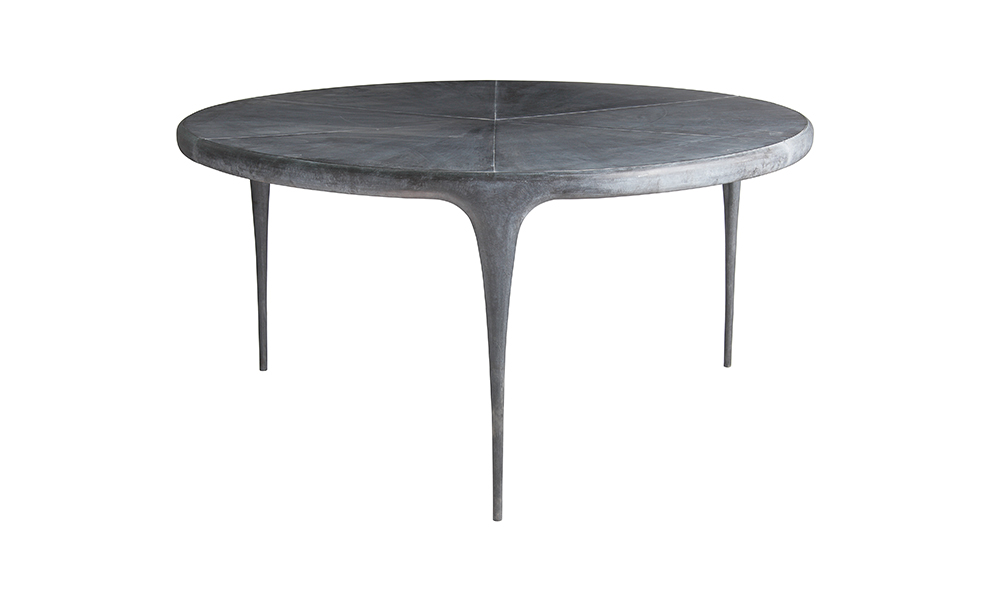 cast round dining table metal top