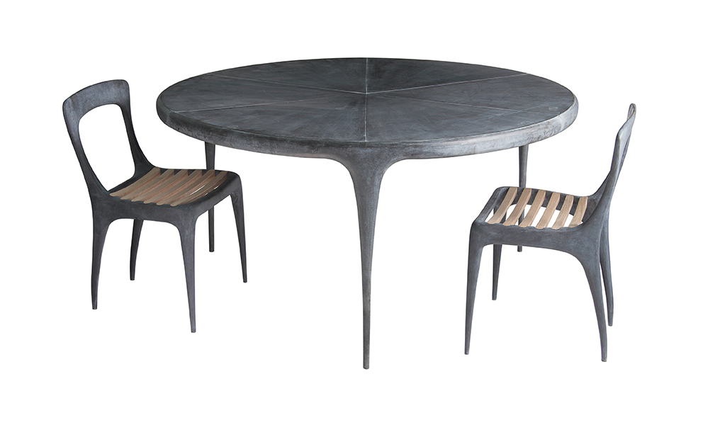 Metal Top Dining Table Part - 27: CAST Round Dining Table Metal Top