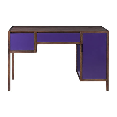 Lacquer and Walnut Dressing Table