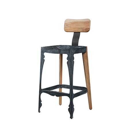 Louis Hybrid Zinc Bar Chair