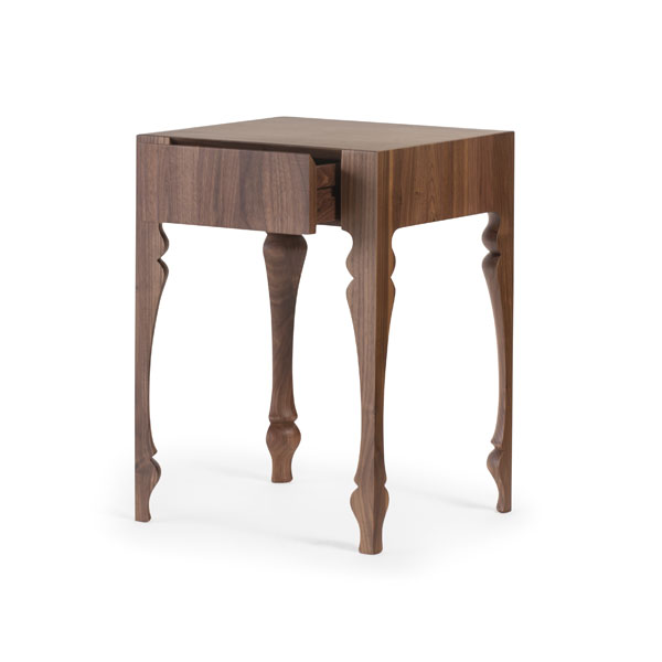 Louis Bedside (Single Drawer) Solid Wood