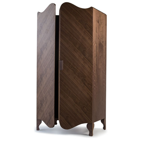 Louis Armoire Solid Wood