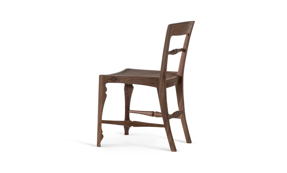 Louis Rattan Side Chair Solid Wood