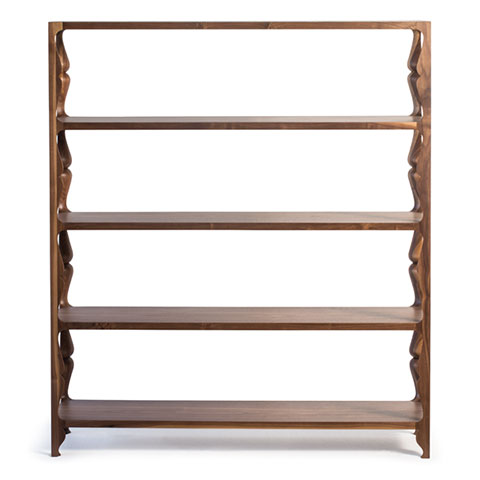 Louis Tall Shelving Solid Wood
