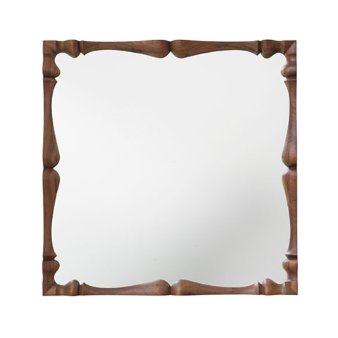 Louis Square Mirror Solid Wood