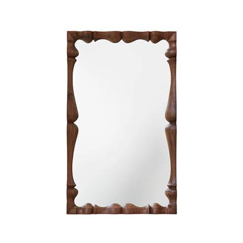 Louis Rectangular Mirror Solid Wood