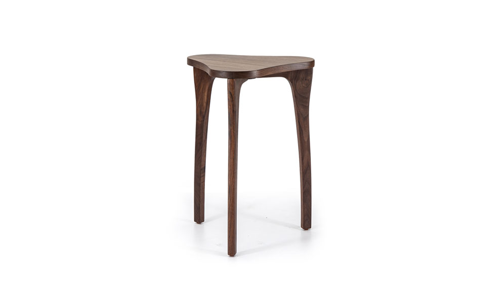 Talon Slot Triangular Side Table