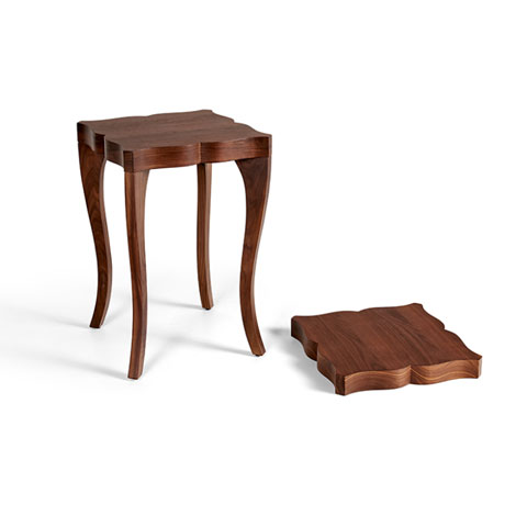 Victoria Walnut Side Table
