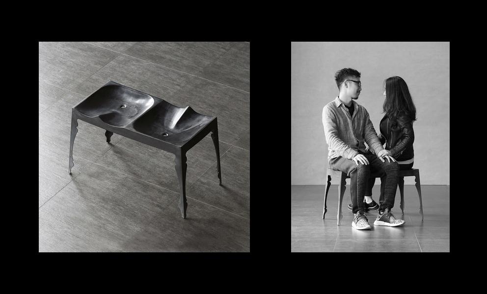 images upload product louis zinc kissing bench